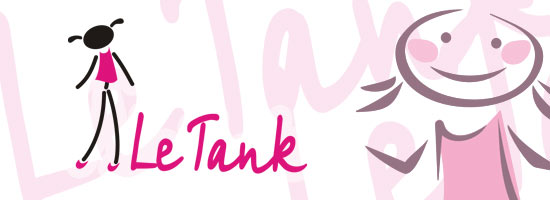 Trade mark development for Le Tank company, which is producing clothes for girls of 8-15 years