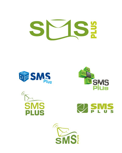Simple and creative logo for small SMS service company
